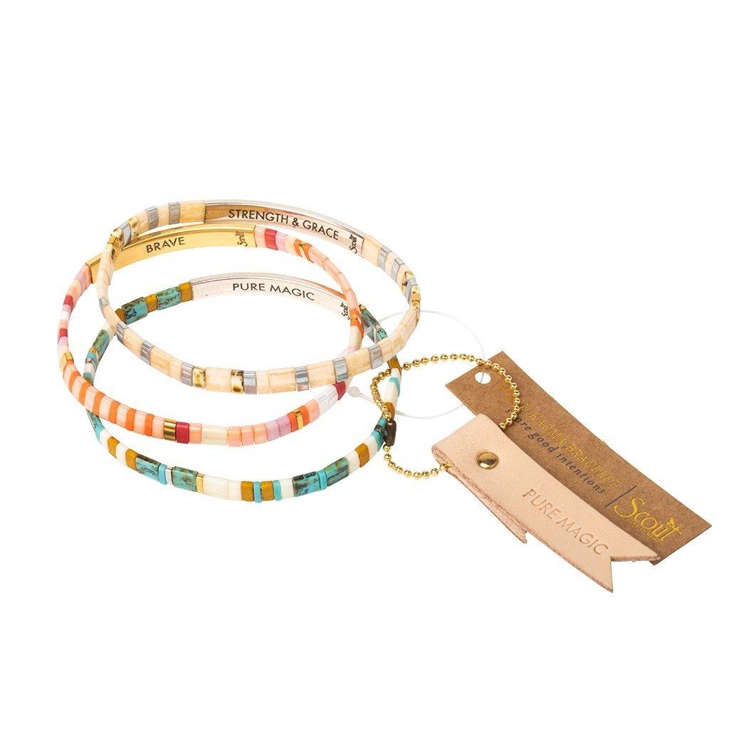 Scout Curated Wears Good Karma Miyuki Bracelet | Pure Magic - Neutral/Gold