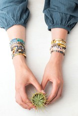 Scout Curated Wears Good Karma Miyuki Bracelet | Brave - Pink Multi/Gold