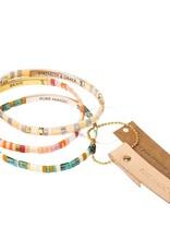 Scout Curated Wears Good Karma Miyuki Bracelet | Good As Gold - Aqua Multi/Gold
