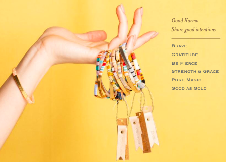 Scout Curated Wears Good Karma Miyuki Bracelet | Strength & Grace - Indigo/Gold