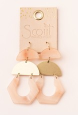 Scout Curated Wears Stone Cutout Earring - Sunstone/Gold