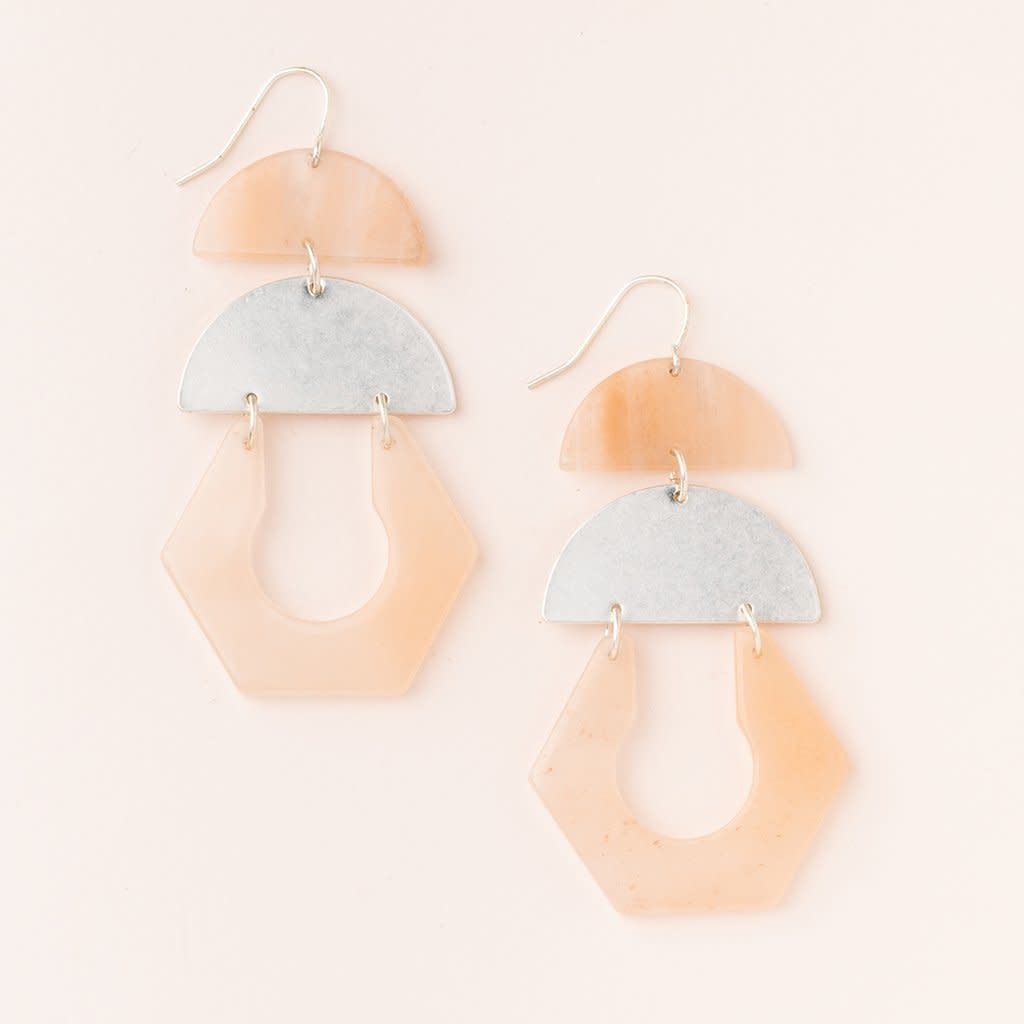Scout Curated Wears Stone Cutout Earring - Sunstone/Silver