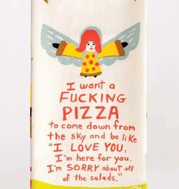 Blue Q I Want a Pizza Dish Towel