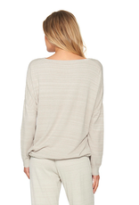 Barefoot Dreams Slouchy Pullover Fog Gray