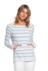 Barefoot Dreams Striped Raglan Pullover Blue
