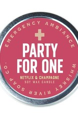 Whiskey River Party For One Emergency Travel Tin Candle