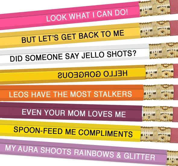 Whiskey River Astrology Pencils Leo