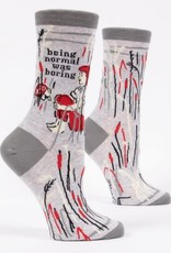 Blue Q Being Normal Was Boring Womens Socks