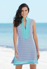 Cabana Life Terry Tunic Navy Stripes