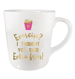 Slant Exercise Extra Fries Mug