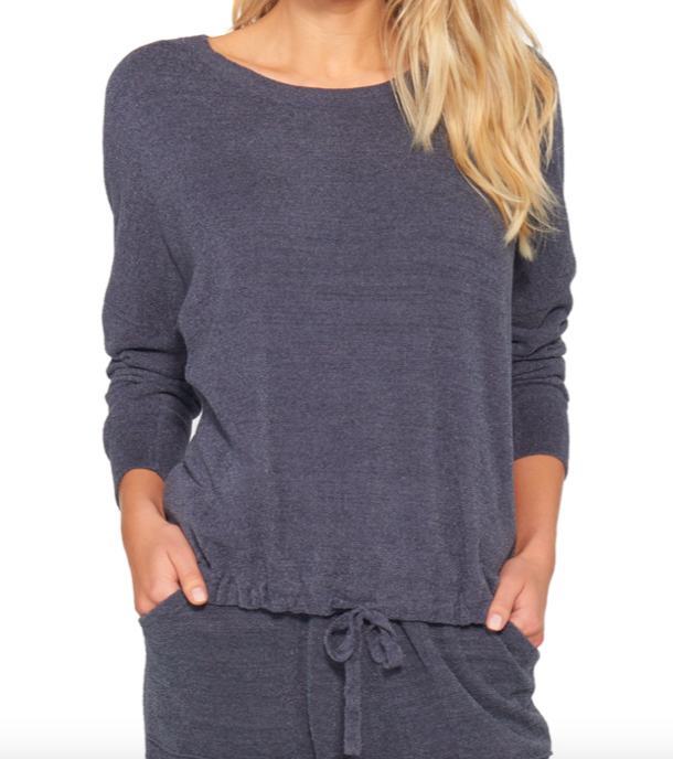 Barefoot Dreams Slouchy Pullover Pacific Blue