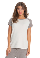 Barefoot Dreams Raglan Tee Beach Rock/Sand Dune