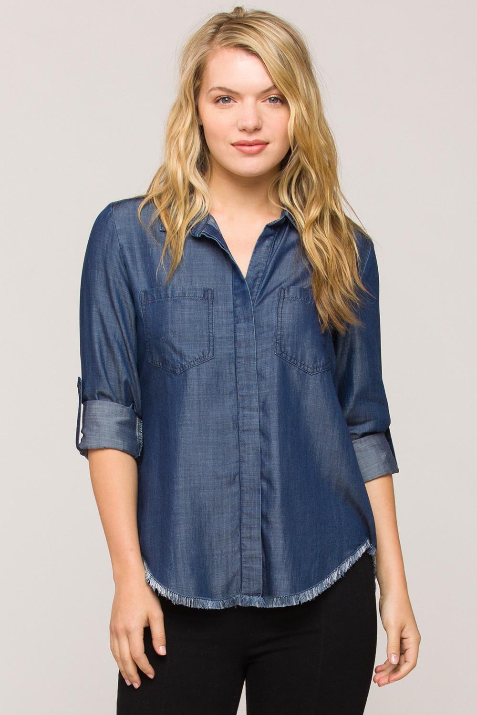 Velvet Heart Riley Denim Fringe Shirt