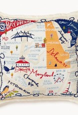 Spartina Bay Dreams Embroidered Pillow
