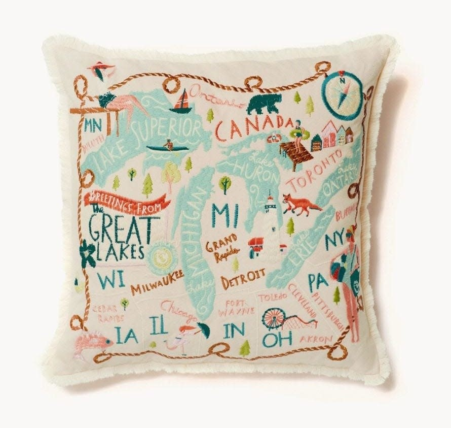 Spartina Great Lakes Embroidered Pillow