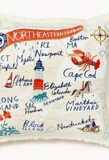 Spartina Northeastern Harbors Embroidered Pillow
