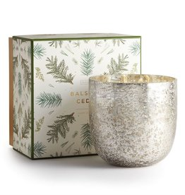 Illume Candle Balsam & Cedar Luxe Sanded Mercury Glass