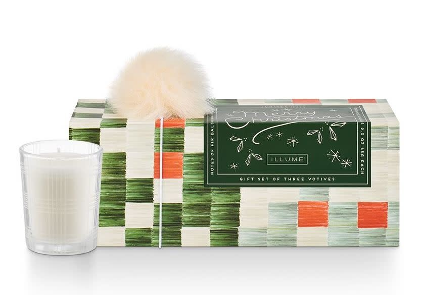 Illume Make Merry Votive Set Juniper Moss