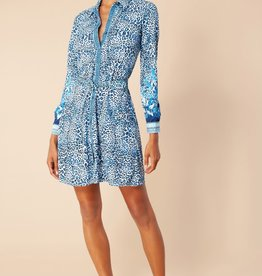 Hale Bob Shirt Dress Navy