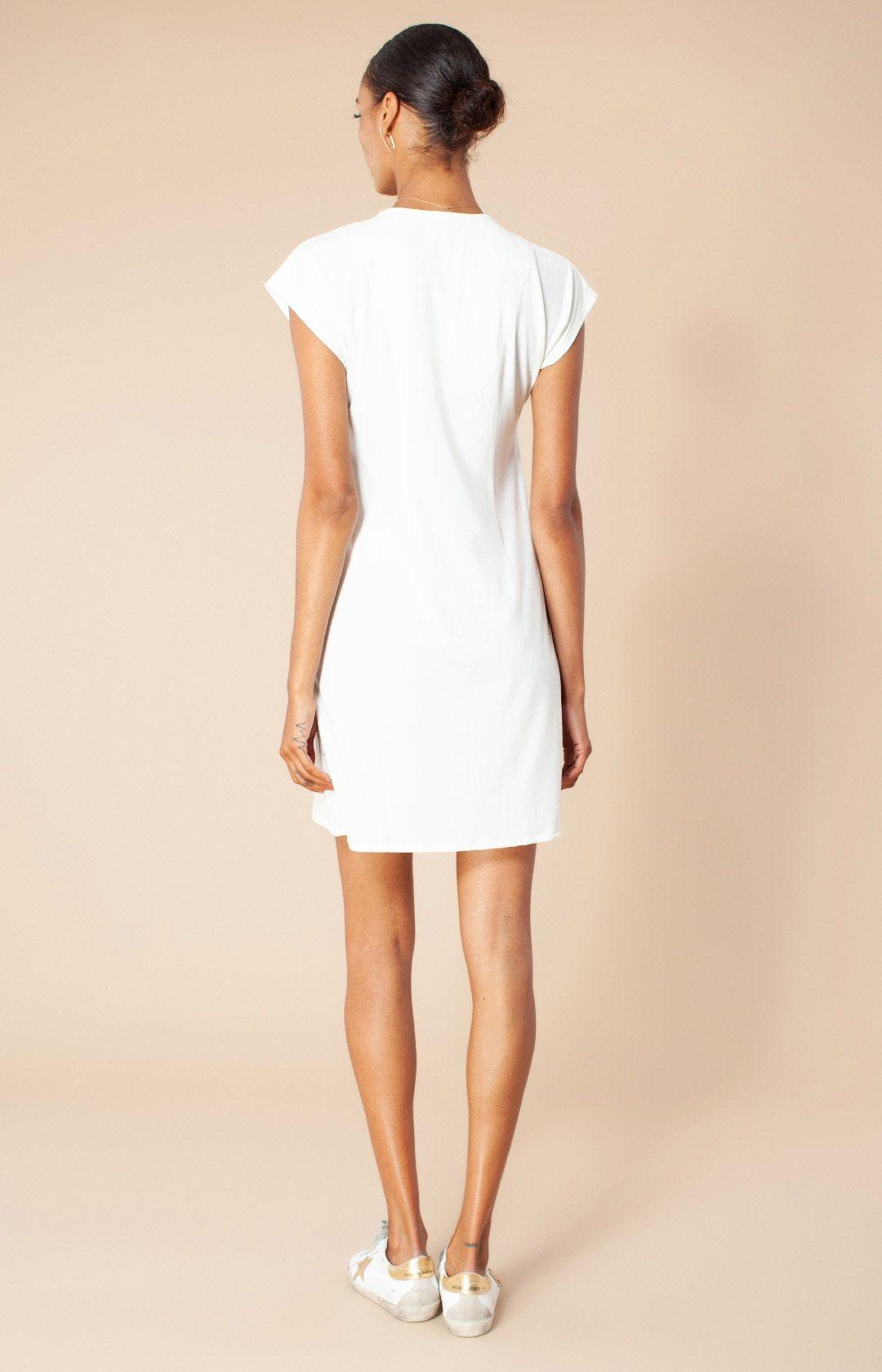 Hale Bob Solid Beaded Dress Ivory