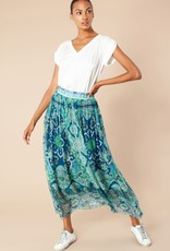 Hale Bob Print Skirt Blue