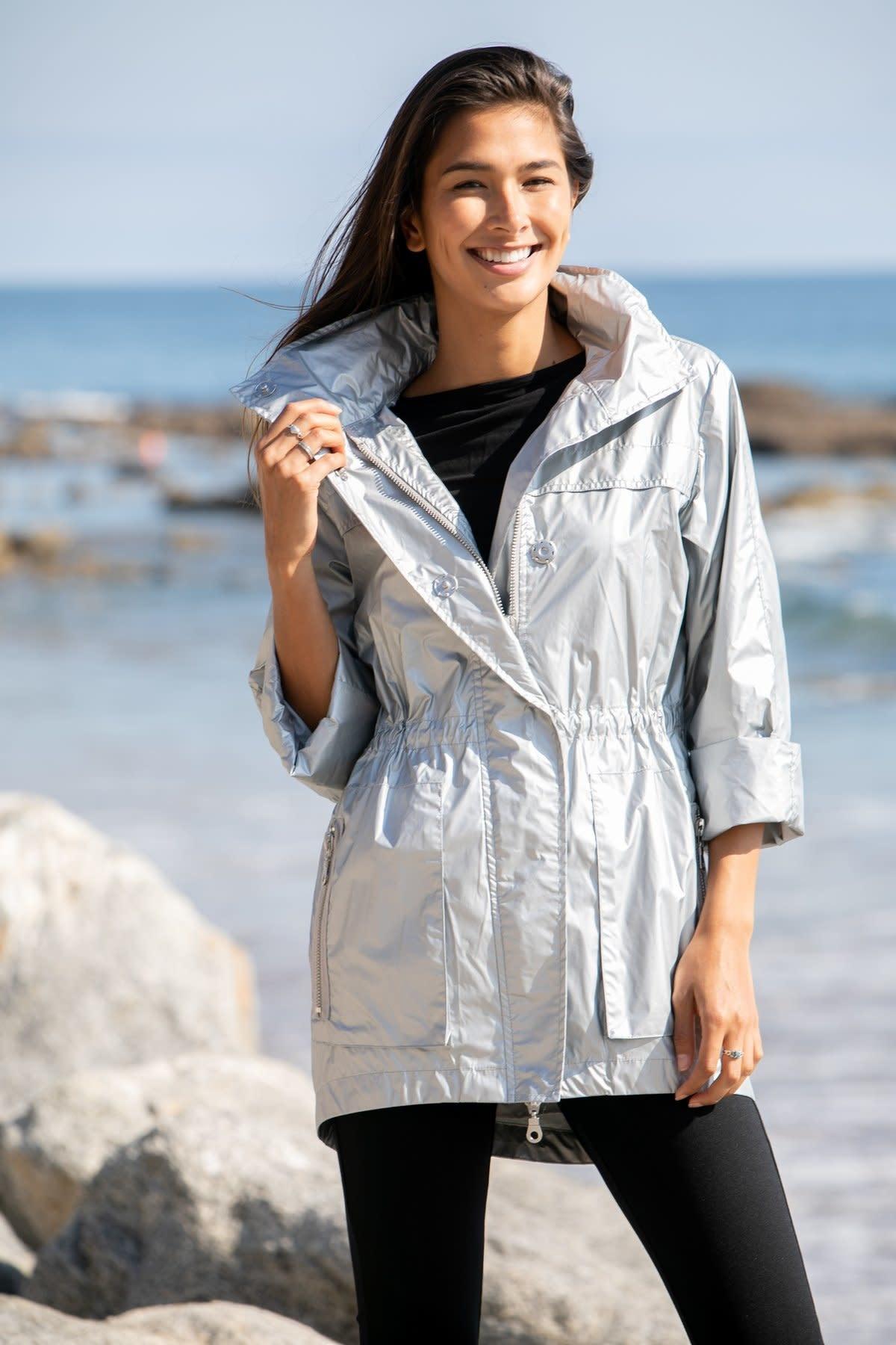 Jacket Metallic Silver Matte