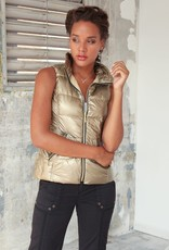 Short Nylon Down Vest Gold