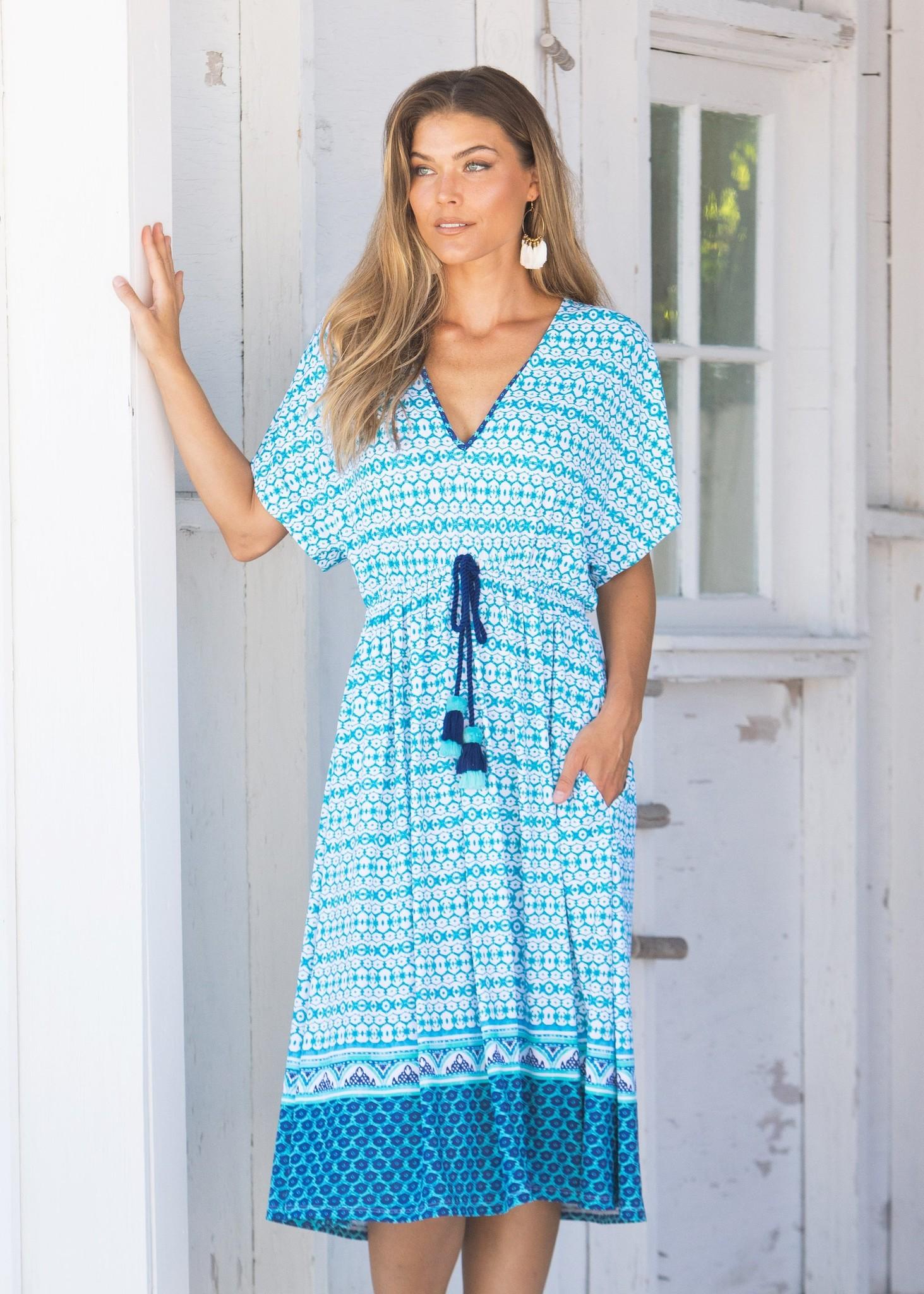 Cabana Life Midi Dress Aruba Blues