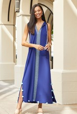 Cabana Life Embroidered Maxi Dress Aruba Blues