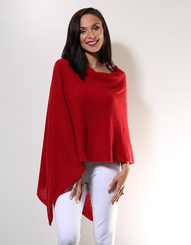 Claudia Nichole Cashmere Topper Crimson