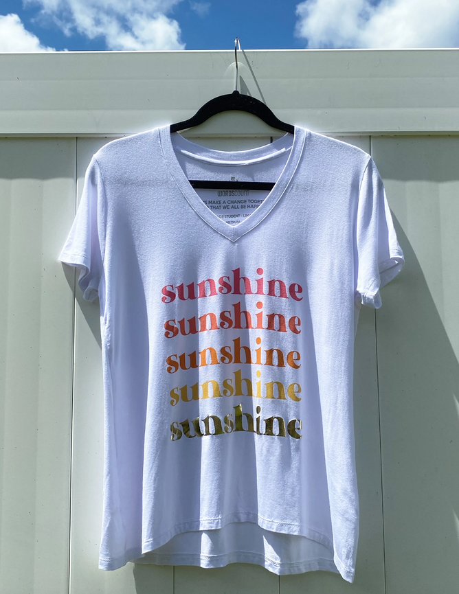 Words Count Sunshine Tee