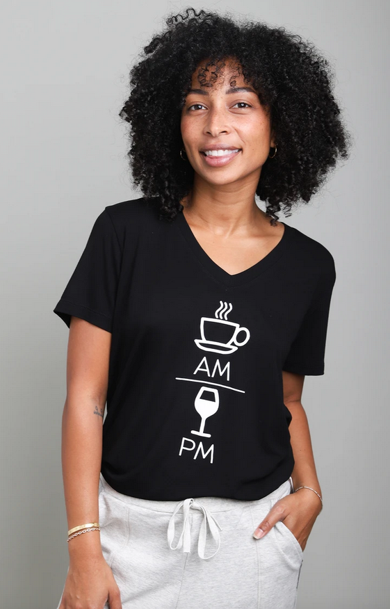 Words Count AM/PM Tee
