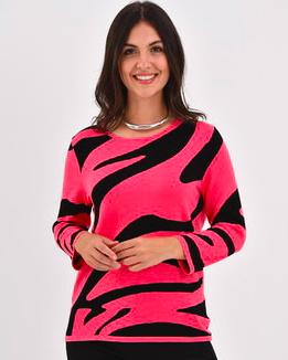 Edinburgh Knits Zebra Crew Pink