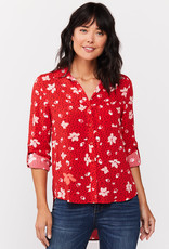 Velvet Heart Elisa Shirt Red Floral