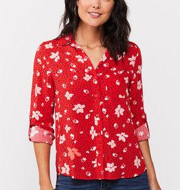 Velvet Heart Elisa Shirt Red Floral