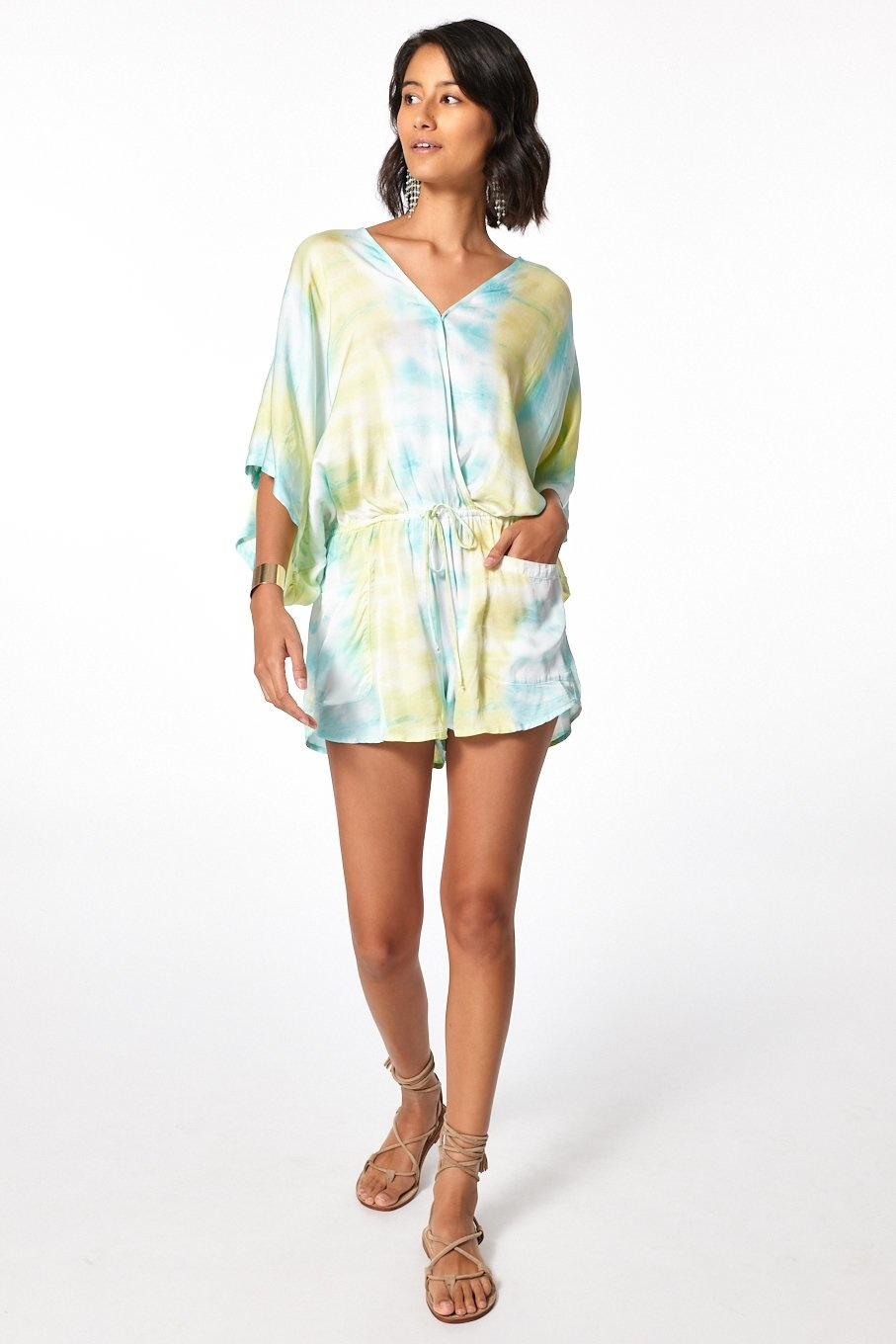 Young Fabulous & Broke Ashby Romper Neon Sonder Wash
