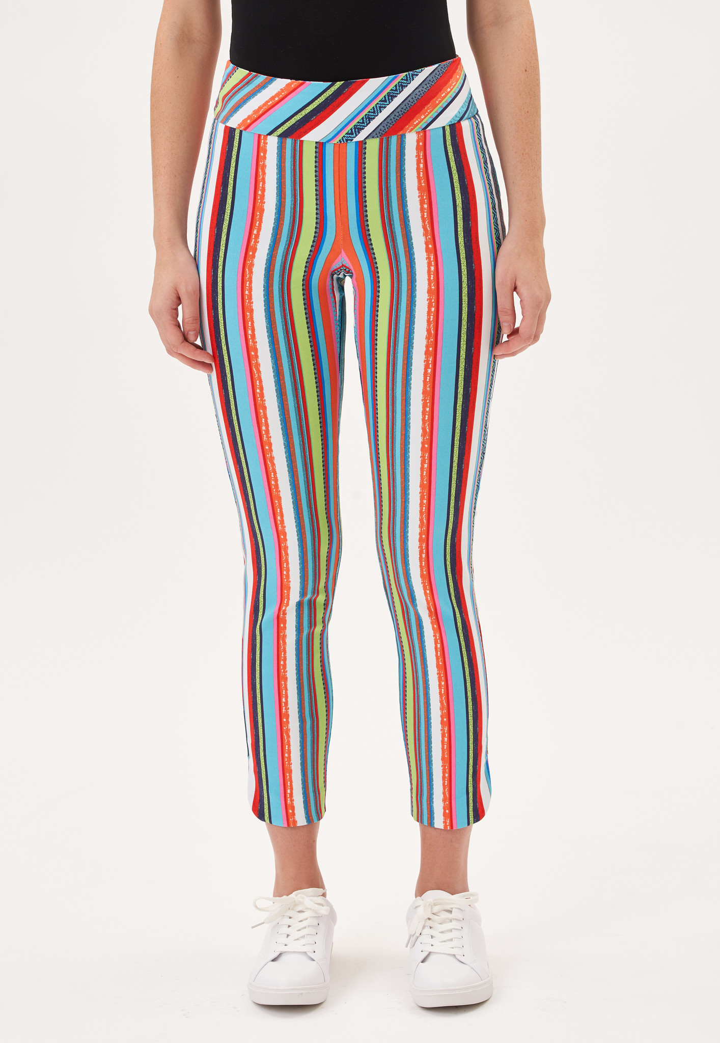 Up Ankle Pant Multi Stripe