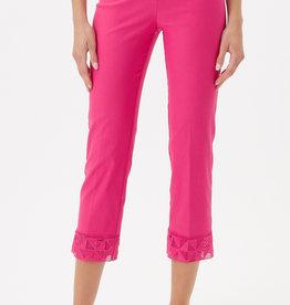 Up Crop Lace Hem Pink