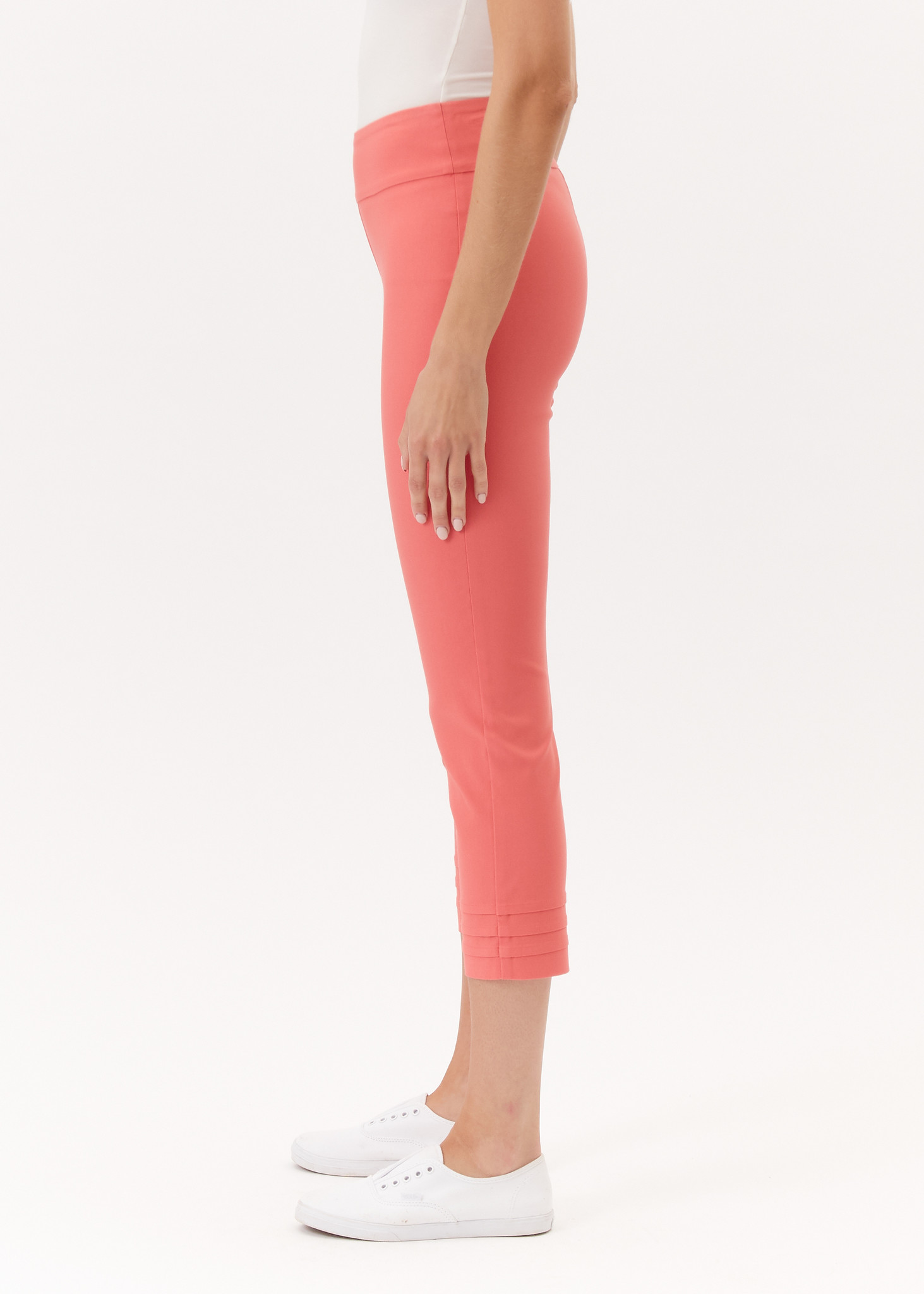Up Pleated Crop Spiced Coral