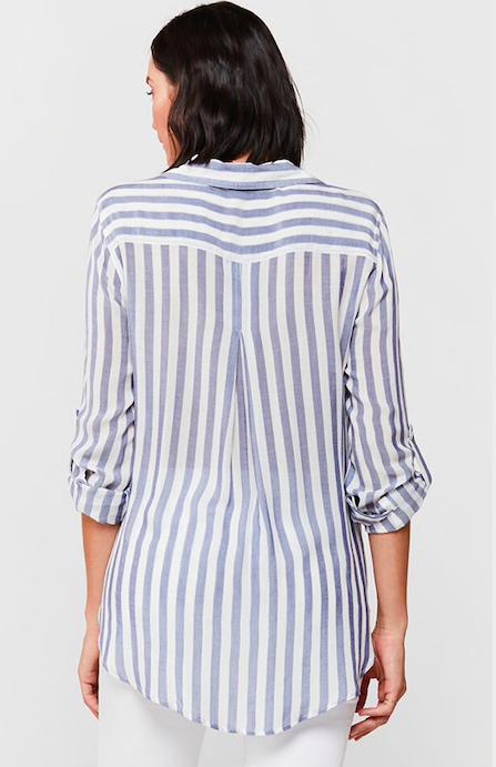 Velvet Heart Elisa Stripe Shirt Indigo