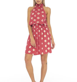 Skemo Alexa Dress Red Daisy
