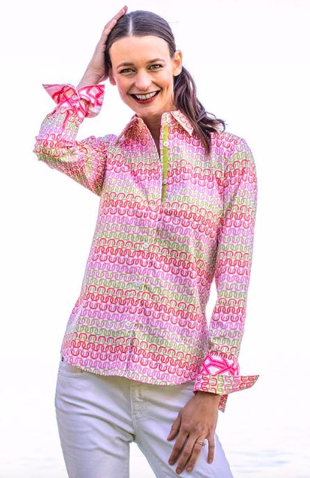 Dizzy Lizzie Rome Shirt Mini Geo