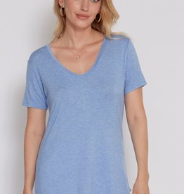 Another Love Megan Curved Hem Tee Sky