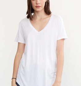 Another Love Megan Curved Hem Tee White