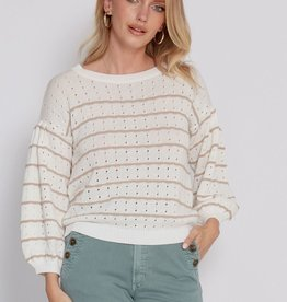 Another Love Stripe Sweater Camel