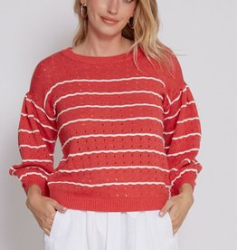 Another Love Stripe Sweater Wild Rose