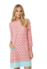 Cabana Life Coral Tides Shift Dress