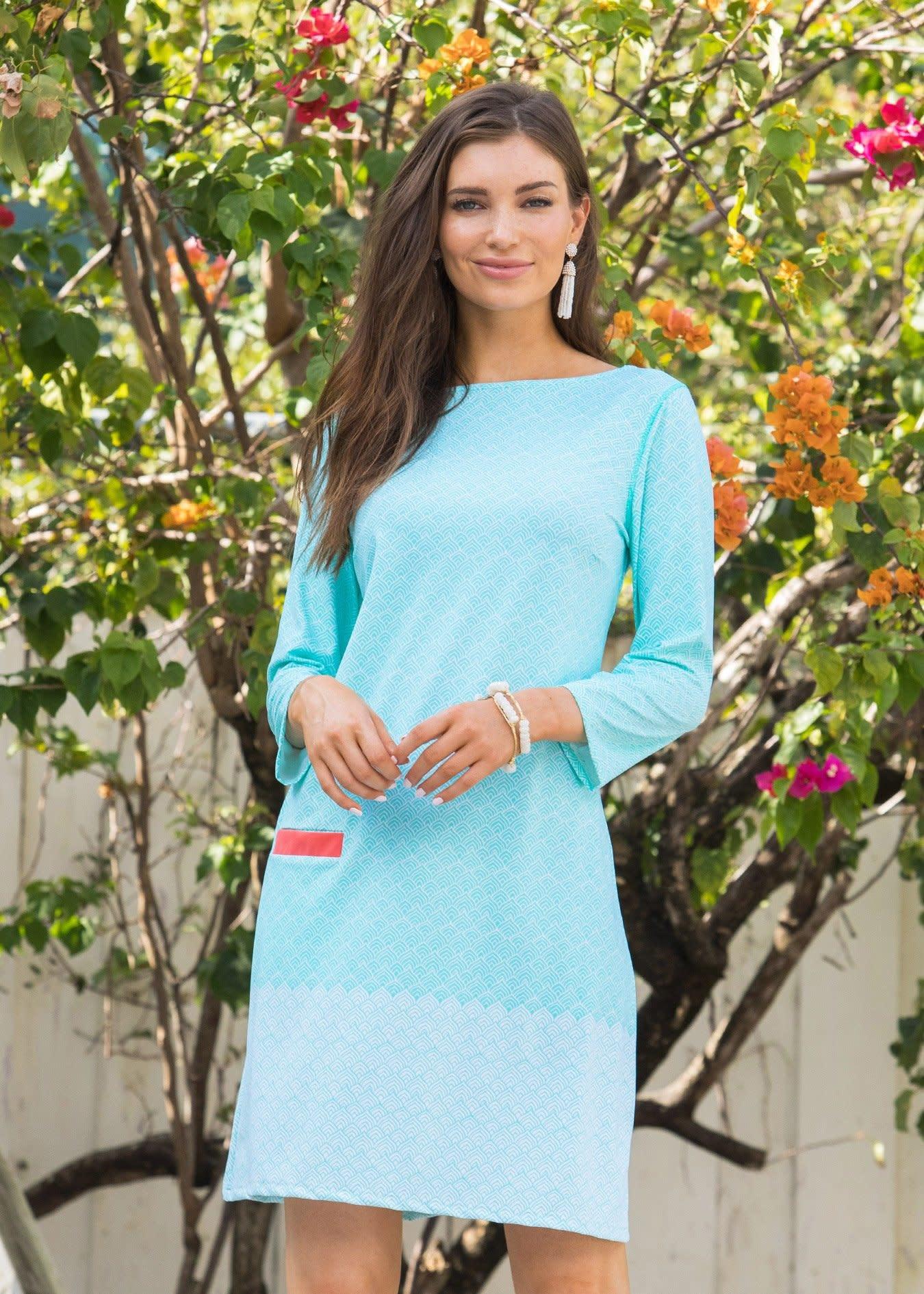 Cabana Life Coral Tides Mint Shift Dress