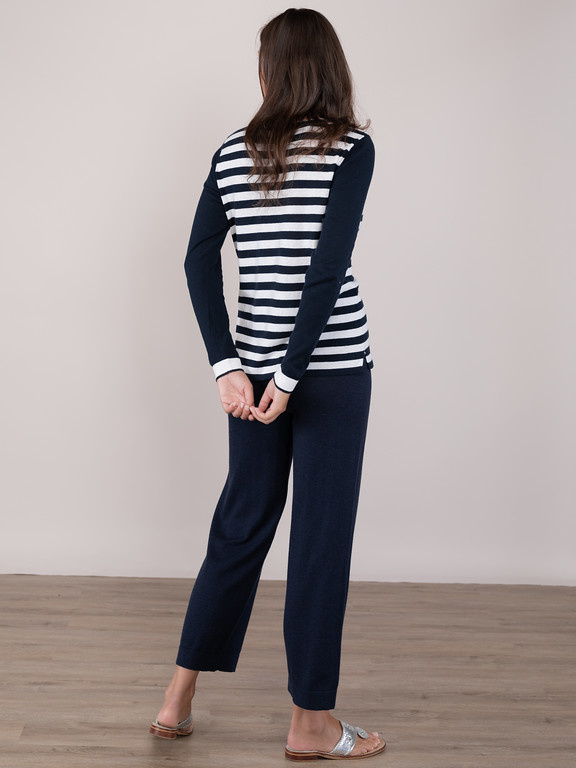 Claudia Nichole Anchor Stripe Pullover