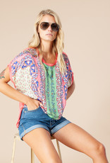 Hale Bob Harbor Silk Top Coral